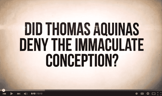 Saint Thomas Immaculate Conception Video